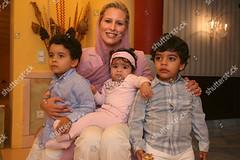 1232052d (aishagadafi1976) Tags: ayesha algaddafi daughter libyan leader muammar at her home tripoli libya 05 oct 2010 with sons abdisalam jenna lawyer aisha children female withothers personality 8387568