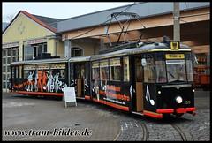 59-2012-01-28-1-Betriebshof (steffenhege) Tags: nordhausen strasenbahn streetcar tram tramway partywagen arbeitswagen arbeitstriebwagen gothawagen gelenkwagen g4 59
