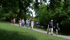 Through the park (Chrispics Photography) Tags: farnham walking festival lions heartstart