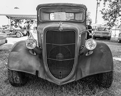 1936 Ford Pickup (Kool Cats Photography over 12 Million Views) Tags: 1936 bw blackandwhite canon canon6d canon1635mmf4isllens car carshow carshows classiccar customhotrod elreno fineart headlights highcontrast ford hotrod monochrome oklahoma old outdoor outdoors photography pickup streetphotography streetrod truck