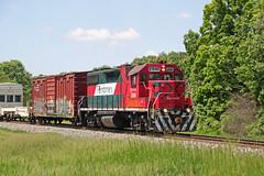 FXE 2046 solo leads the weed sprayer train back east (AndyWS formerly_WisconsinSkies) Tags: train railroad railway railfan canadianpacificrailway canadianpacific cprail cp ferromex emd gp382 locomotive