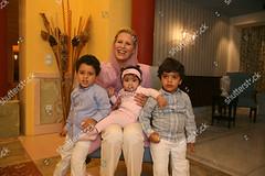 1232052n (aishagadafi1976) Tags: ayesha algaddafi daughter libyan leader muammar at her home tripoli libya 05 oct 2010 with sons abdisalam jenna lawyer aisha children female withothers personality 8387566