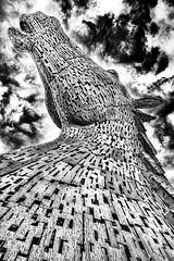 Kelpis II (Enrique Mesa) Tags: seleccionar blancoynegro byn blackandwhite bw scotland escocia falkirk thekelpis escultura sculpture