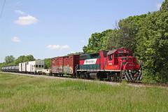 The weed sprayer train approaching Weyh Road (AndyWS formerly_WisconsinSkies) Tags: train railroad railway railfan canadianpacificrailway canadianpacific cprail cp ferromex emd gp382 locomotive
