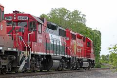 FXE 2046 second out on weed sprayer train 2WWA-03 (AndyWS formerly_WisconsinSkies) Tags: train railroad railway railfan canadianpacificrailway canadianpacific cprail cp ferromex emd gp382 locomotive