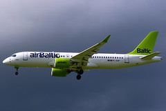 Air Baltic Airbus A220-300 YL-AAP (Manuel Negrerie) Tags: ylaap air baltic airbus a220300 cseries cs300 bombardier cdg clouds avgeeks aviation narrowbody regional airbaltic livery jet design technology spotting