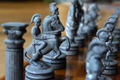 Souvenir chess set (glyn_nelson) Tags: macromondays childhoodtoys chess greece board chequer knight pawns toy game macro