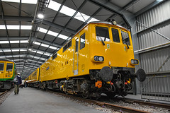 73952 t&t 73951 - Crewe Diesel Depot Open Day - 08/06/19. (TRphotography04) Tags: network rail minions 73951 malcolm brinded 73952 janis kong seen topntailing test train crewe diesel depot 2019 charity open day all change event 080619