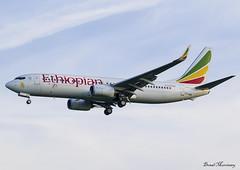 Ethiopian Airlines 737-800 ET-AQQ (birrlad) Tags: stansted stn airport london uk aircraft aviation airplane airplanes airline airliner airlines airways arrival arriving approach finals landing runway boeing b737 b738 737 737800 737860 etaqq ethiopian