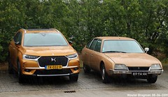 New & Old (XBXG) Tags: tr032h ds7 crossback 2018 citroën cx 1975 citroëncx 100jaarcitroën 2019 citroëndealer autopalace marconistraat zwolle overijssel nederland holland netherlands paysbas vintage old classic french car auto automobile voiture ancienne française france frankrijk vehicle outdoor 89ya44