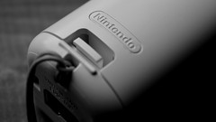 It's all a game, boy! (robjvale) Tags: childhoodtoys nikon d3200 macromondays hmm nintendo gaming console blackwhite bw