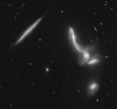 Arp 322 (geckzilla) Tags: hst hubble prop15446 15446 merger merging galaxies spiral disk tidal streams markarian mrk mkn 176