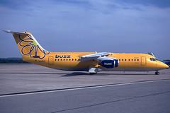 Buzz BAe 146-300 G-UKID GRO 29/04/2001 (jordi757) Tags: avions airplanes nikon f90x kodachrome kodachrome64 gro lege girona costabrava bae bae146 bae146300 buzz gukid