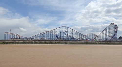 Rollercoaster at Blackpool Pleasure Beach