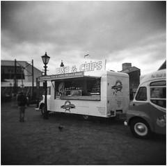 fish n chips, Liverpool (bevscwelsh) Tags: fishnchips liverpool albertdock holga120n