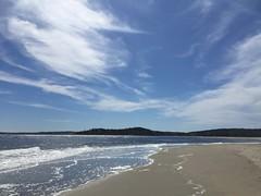 The Light Celebrates (no. 2) (77ahavah77) Tags: light blue outside nature beach ocean sea popham maine water landscape clouds