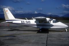 Untitled Partenavia P-68B EC-IVC GRO 09/04/2004 (jordi757) Tags: avions airplanes nikon f90x kodachrome kodachrome64 gro lege girona costabrava partenavia p68 ecivc