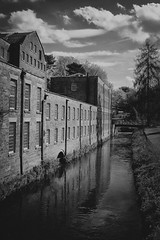 Quarry bank River- on1 (douglasjarvis995) Tags: monochrome mono bnw old uk travel windows england building history architecture river bank nationaltrust quarry cheshire