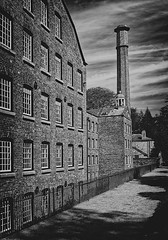 Quarry bank- on1 (douglasjarvis995) Tags: monochrome mono bnw uk windows chimney history bank nationaltrust quarry building mill architecture