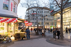 ELBERFELD, GERMANY - FEBRUARY 15, 2017: Many unidentified people walk throug one of the main shopping streets (axel-d-fischer) Tags: modern retail vividtown elberfeld historic shopping stylish shoppers germany architecture stores richofferings light wuppertalelberfeld downtown