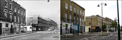 Amwell Street`1961-2019 (roll the dice) Tags: london ec1 old islington canon tourisn tourists changes collection vanished demolished sad mad fashion traffic shops closed local history retro bygone nostalgia comparison streetfurniture architecture oldadnnew pastandpresent hereandnow urban england classic uk art sixties clerkenwell finsbury belishabeacon lights chimney hairdressers