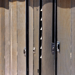Valparaiso (morbs06) Tags: chile southamerica valparaiso abstract architecture building colour facade light lines metal pattern repetition shadow shutters square stripes