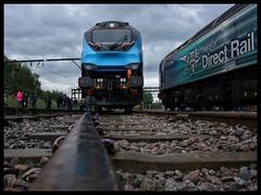68023 (Lewis_Hurley) Tags: 68 class68 68023 cat diesel train railway loco locomotive crewe cheshire uk england transpennineexpress tpe openday allchangecrewe allchangeopenday allchange crewedieseldepot rail track clouds dark
