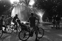 I'm only sleeping (Renate R) Tags: fountain berlin child sleeping bike imonlysleeping volksparkfriedrichshain springbrunnen street blackwhite innamoramento