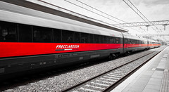 Red Ferrari (Franco-Iannello) Tags: streetphotography blackwhite blackandwhite red