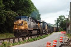 Gloomy Man (TolgaEastCoast) Tags: csx train u211 313 west coal empty hopper richmond virginia