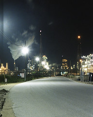 NORCO (Industrial Relics Photography) Tags: norco oil refinery night time long exposure kodacolor 200 colorplus kodak nikon f100 nikkor 50mm 18 g louisiana
