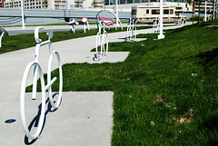 Bike Racks at the Summerfest grounds - Milwaukee (Cragin Spring) Tags: milwaukee milwaukeewi milwaukeewisconsin wisconsin wi city urban unitedstates usa unitedstatesofamerica bikeracks bike bicycle sidewalk