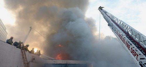 North Hollywood Blaze Hits Multiple Businesses