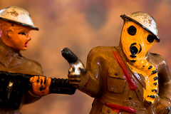 Macro Mondays: Childhood Toys:  Antique World War I Toy Soldiers (Glotzsee) Tags: macromondays childhoodtoys