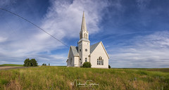 Country Church (NikonDigifan) Tags: church architecture rural farming washington landscape pacificnorthwest sky clouds agriculture panorama spring nikond850 nikon nikon28300 mikegassphotography