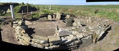 204 | Liddle Burnt Mound bronze age site (panorama) (Mark & Naomi Iliff) Tags: orkney southronaldsay liddle burnt mound liddel bronzeage remains stones archaeology panorama