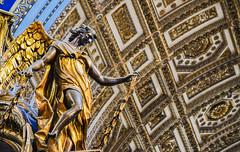 Angel Observing - St Peter's Basilica (Benjamin RP) Tags: st saint peters basilica church italy rome renaissance building buildings architecture ancient history angel statue sculpture vatican city