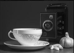 Still Life - Film Sinar (Photo Alan) Tags: vancouver canada film filmcamera filmscan film120 largeformat sinar schneider stilllife camera cap blackwhite blackandwhite monochrome bw
