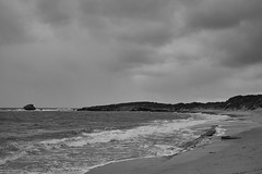 Rough Seas (Stueyman) Tags: sony alpha a7 a7ii wa westernaustralia au australia rockingham perth beach water sea ocean sky winter indianocean batis batis240cf bw blackandwhite noiretblanc