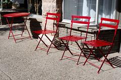 Seeing Red (fotofish64) Tags: sidewalk table chair color vividcolor red outdoorseating streetscape downtown mainstreet businessdistrict catskill village smalltown newyork hudsonvalley hudsonvalleyregion greenecounty shadow texture outdoor urban pentax pentaxart kmount k70 hdpentaxda1685mmlens