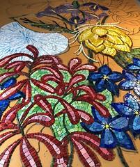 Grounding (Gila Mosaics n'stuff) Tags: gilamosaics mosaic art studio flower commission workinprogress wip mexicansmalti
