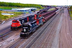 Proctor Forces (BravoDelta1999) Tags: illinoiscentral ic railroad canadiannational cn railway duluthmissabeandironrange dmir missabesubdivision proctor yard minnesota emd sd403 6251 deathstar scheme sd40t3 408 taconite ore train sd382 211