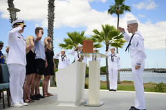 190607-N-QE566-0005 (U.S. Pacific Fleet) Tags: cnrh jointbasepearlharborhickam history dec7 pearlharbor ussoklahoma ussutah ash ashes ceremony hawaii navy memorial unitedstates
