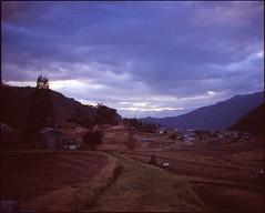 (✞bens▲n) Tags: mamiya 7ii velvia 100 80mm f4 film analogue 6x7 landscape japan nagano fields
