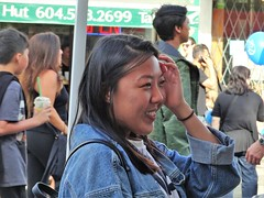 Hand on Heart (knightbefore_99) Tags: car free day 2019 commercialdrive thedrive vancouver eastvan city italian italy candid face awesome girl asian pretty head hold smile happy