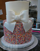 Sprinkles cake with bow (Ale - Bakeandfun) Tags: cakes fondant fondantcake lakewoodranch specialty