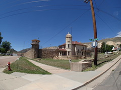 P6100629 (goflight001) Tags: summer2019 canoncity coloradostatepenitentiary prison gaschamber museum prisonerart guardtower