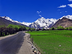 Country road, take me home... (Lopamudra !) Tags: lopamudra lopamudrabarman lopa landscape ladakh jk india kargil path road highway himalaya himalayas highaltitude highland mountain mountains peak peace peaks country green village hamlet civilisation civilization nature colour color colours colourful cold beauty beautiful picturesque
