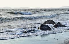 W. Beach Road Public Beach, Oak Harbor (SonjaPetersonPh♡tography) Tags: whidbeyisland wbeachroadpublicbeach beach waves shoreline pacificocean ocean rocks tide wind seascape oakharbor coastline coast washington washingtonstate stateofwashington nikon nikond5300 afsdxnikkor18300mmf3563gedvr water sand