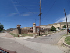 P6100608 (goflight001) Tags: summer2019 canoncity coloradostatepenitentiary prison gaschamber museum prisonerart guardtower